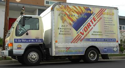 Vorte Water Damage Restoration Truck