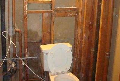 bathroom water restoration
